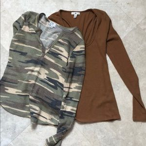Tops - Nordstrom long sleeve henley fall bundle XS/S